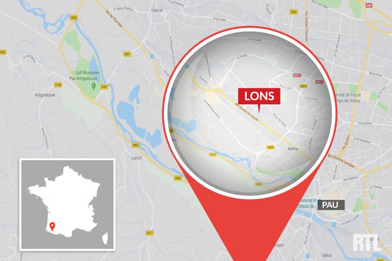 La commune de Lons est située au nord de Pau
