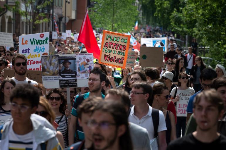 Des manifestants pour le climat, le 25 mai 2019 à Strasbourg