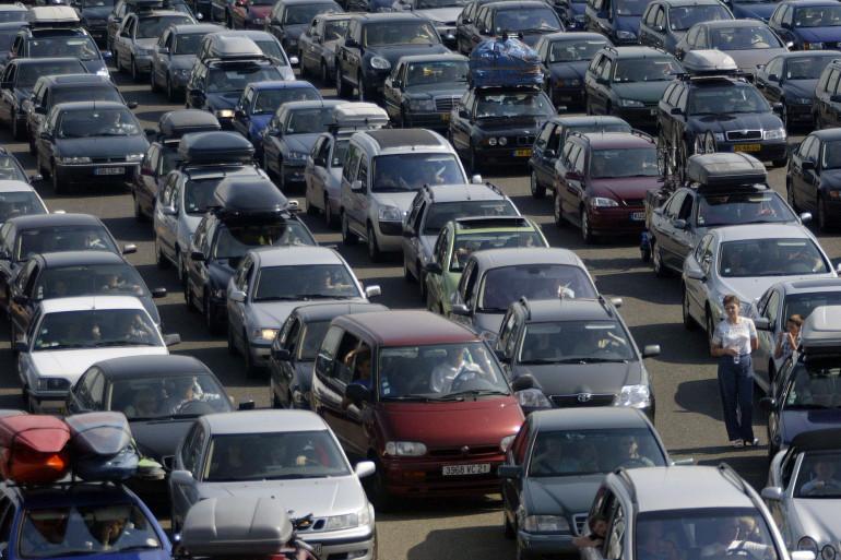 Des embouteillages sur le périphérique parisien (illustration)