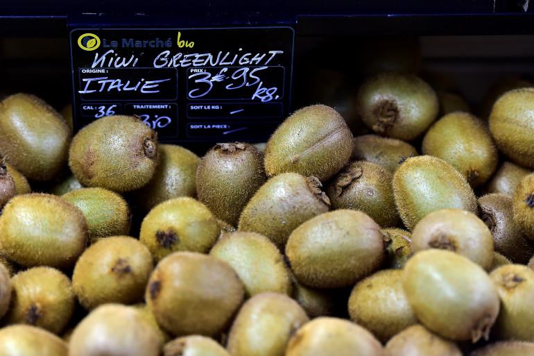 Les kiwis font parti des fruits les moins touchés par les pesticides