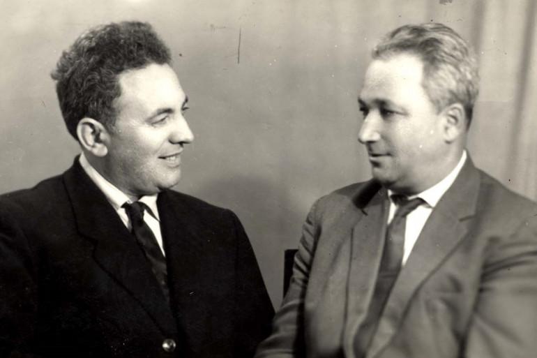 Semion Rosenfeld (à gauche) et Alexander Pechersky, deux survivants du camp de Sobibor