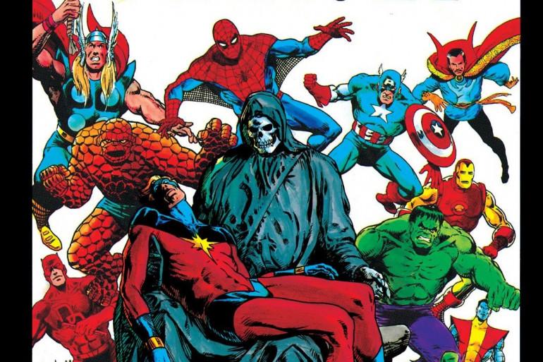 """La couverture de """"The Death of Captain Marvel"""", sorti en 1982"""