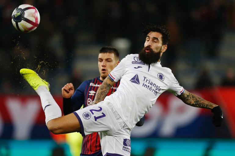 Jimmy Durmaz lors d'un match Caen-Toulouse, le 18 décembre 2018 à Caen