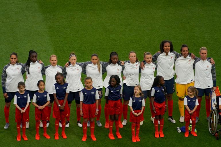 L'équipe de France féminine de football le 7 juin 2019 au Parc des Princes