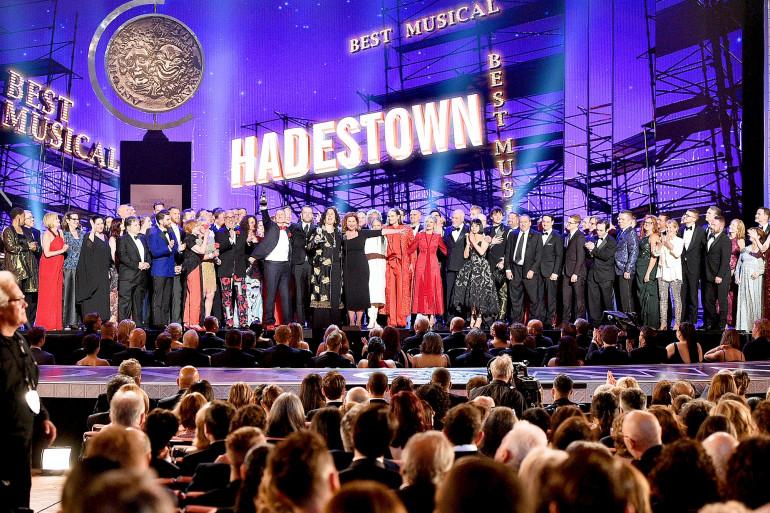 L'équipe de 'Hadestown', recevant dimanche 9 juin le Tony awards de la meilleure comédie musicale