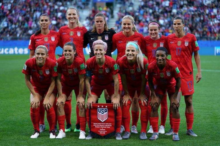 L'équipe américaine de football lors de son match contre la Thaïlande le 11 juin 2019