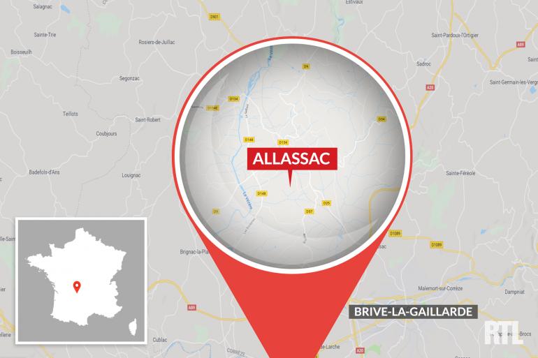 La communne d'Allasac est située au nord de Brive-la-Gaillarde