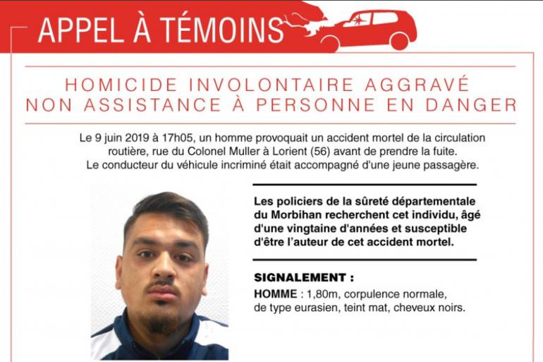 Un nouvel appel à témoins avait été lancé pour retrouver le chauffeur de Lorient qui a tué un enfant de 10 ans à Lorient ce dimanche 9 juin