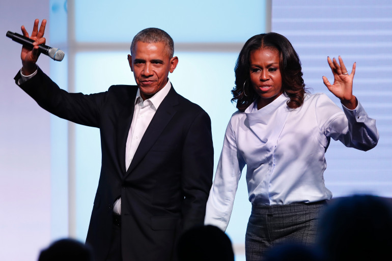 Barack et Michele Obama, le 31 octobre 2017