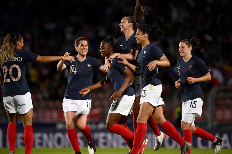 L'équipe de France féminine de football face à la Chine le 31 mai 2019 à Créteil
