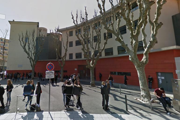 Le lycée Sasserno à Nice, où était scolarisée l'adolescente