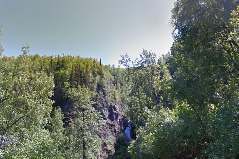 Thunderbird Creek, la forêt où a été tuée Cynthia, en Alaska.