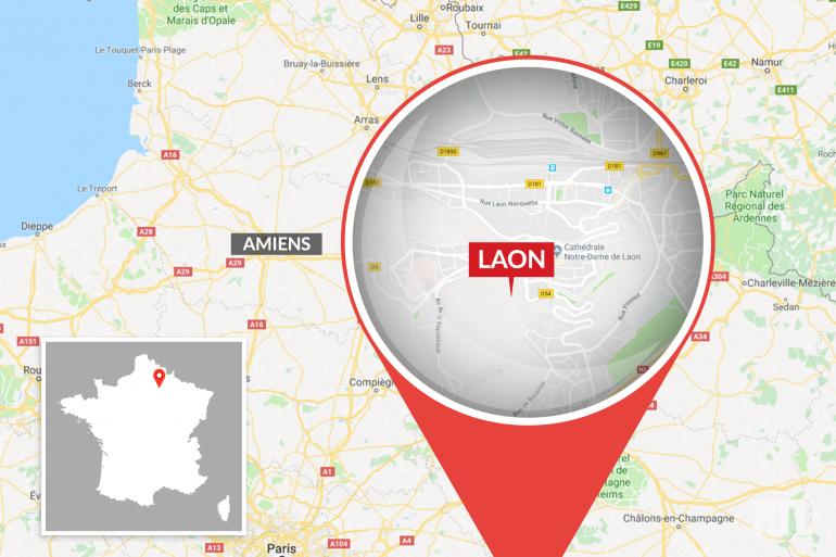 La ville de Laon, dans l'Aisne.
