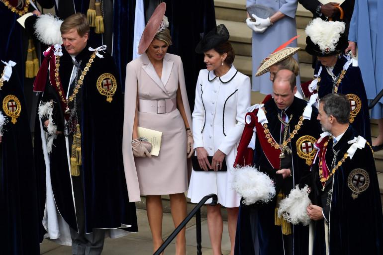 Kate et William lors de la cérémonie de l'Ordre de la Jarretière le lundi 17 juin 2019