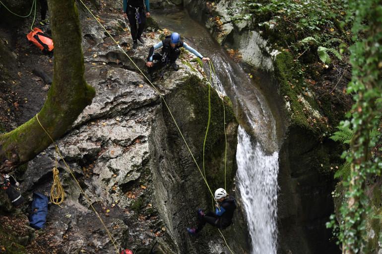 Le canyon de Furon, terrain glissant