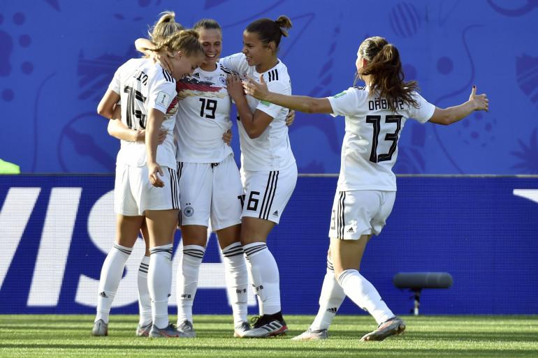 L'équipe d'Allemagne, à Grenoble le 22 juin 2019