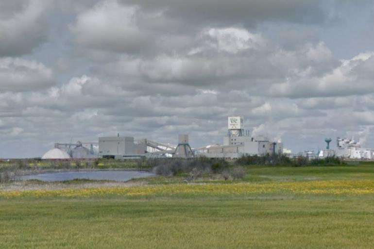 La mine de Cory (Canada), où à eu lieu l'incident.