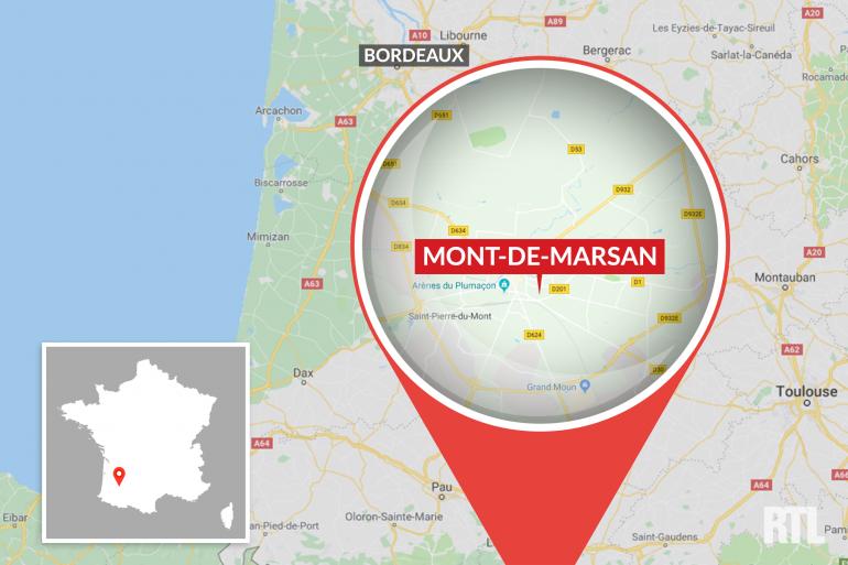 La ville de Mont-de-Marsan dans les Landes
