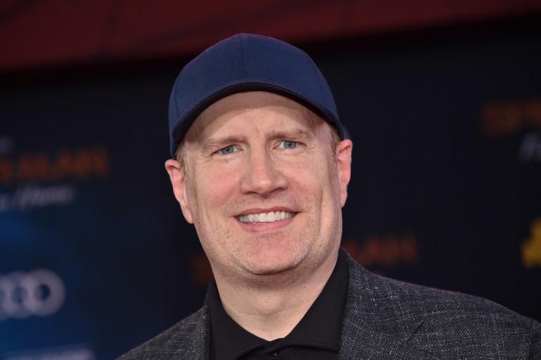 """Kevin Feige, producteur et patron des studios Marvel, à la première de """"Spider-Man : Far From Home"""" à Hollywood (26 juin 2019)"""