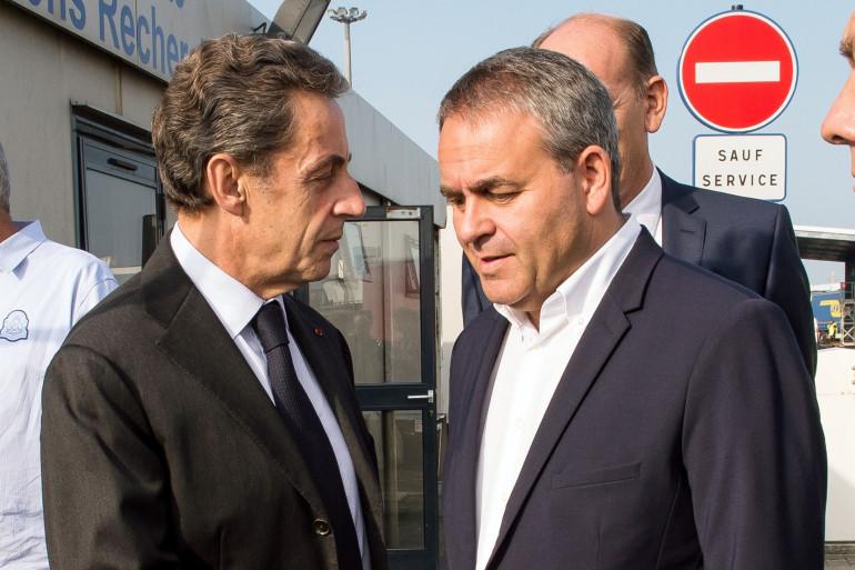 Nicolas Sarkozy et Xavier Bertrand en septembre 2016 à Calais