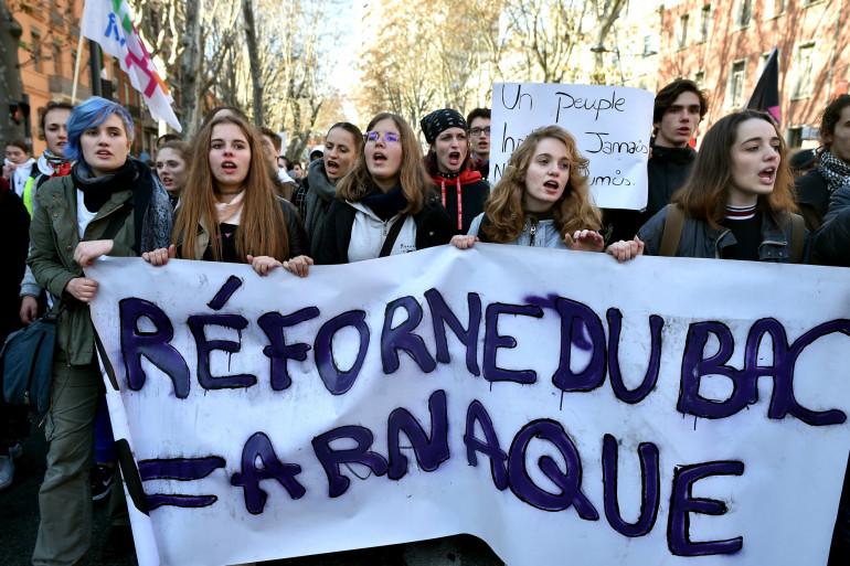 Manifestation étudiante contre la réforme du baccalauréat