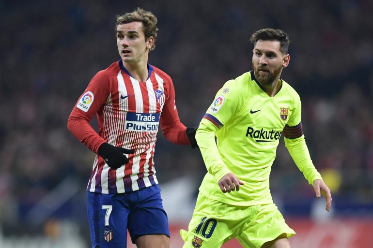 Antoine Griezmann et Lionel Messi le 24 novembre 2018 à Madrid