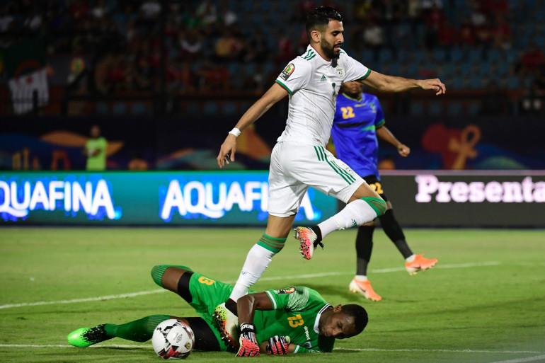 Riyad Mahrez avec l'Algérie face à la Tanzanie le 1er juillet 2019