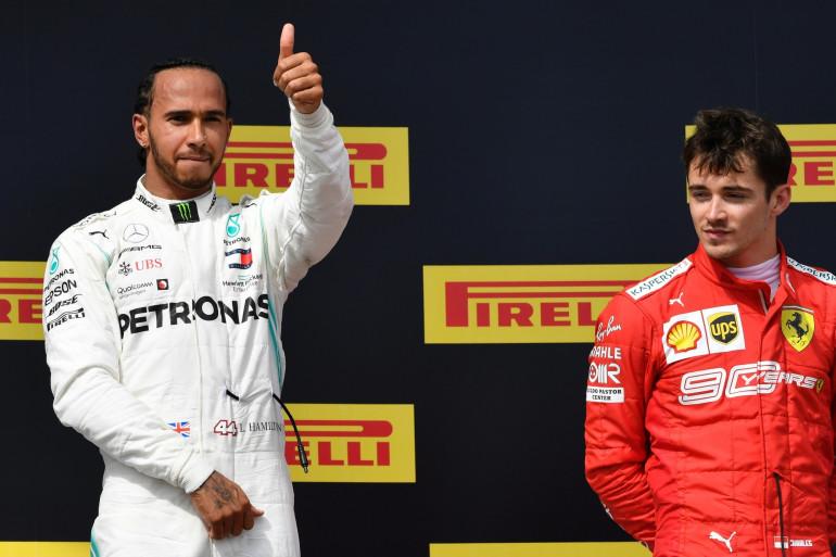 Lewis Hamilton et Charles Leclerc le 23 juin 2019 au Castellet
