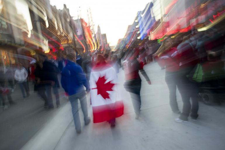 Dans les rues de Vancouver, ville la plus peuplée en Colombie-Britannique.