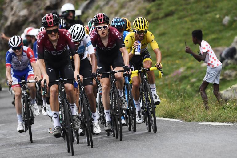 Julian Alaphiliipe en jaune sur le Tour de France le 25 juillet 2019