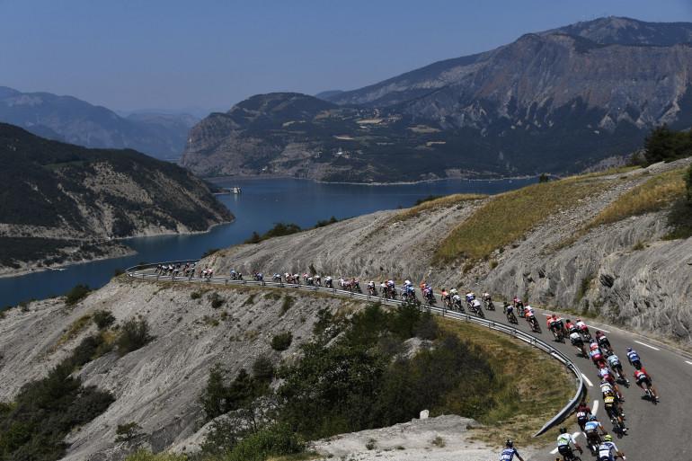 Le peloton du Tour de France le 26 juillet 2019