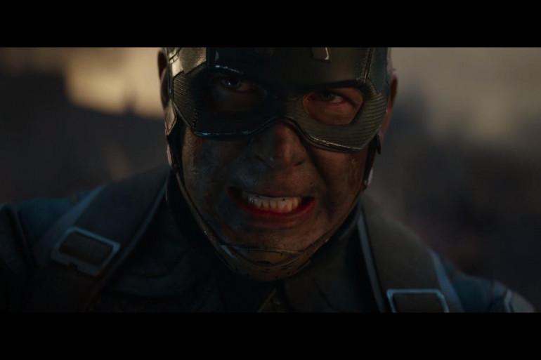 """Chris Evans en Captain America dans """"Avengers : Endgame"""""""