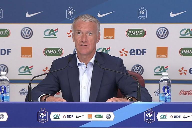 Didier Deschamps en conférence de presse.