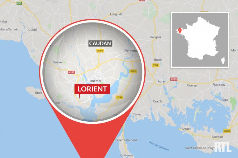 La ville de Lorient, dans le Morbihan (Bretagne)