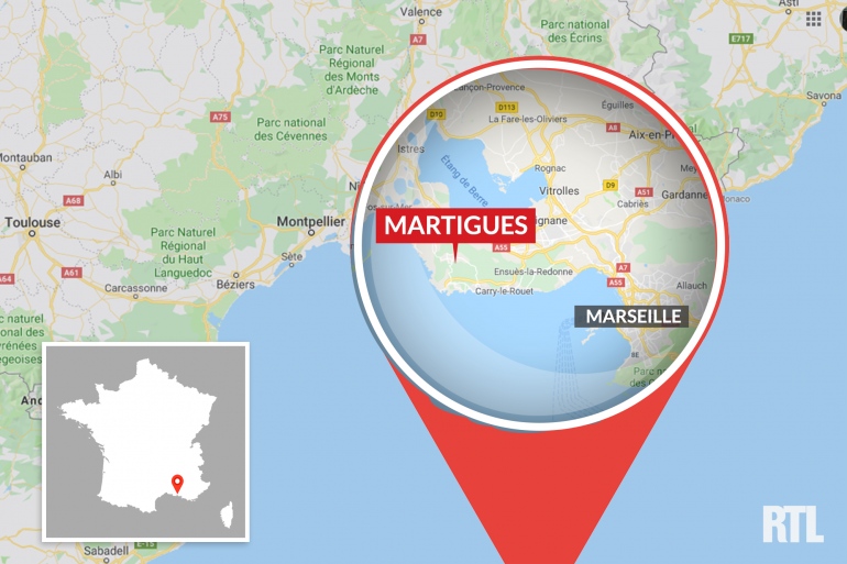 La ville de Martigues, dans les Bouches-du-Rhône