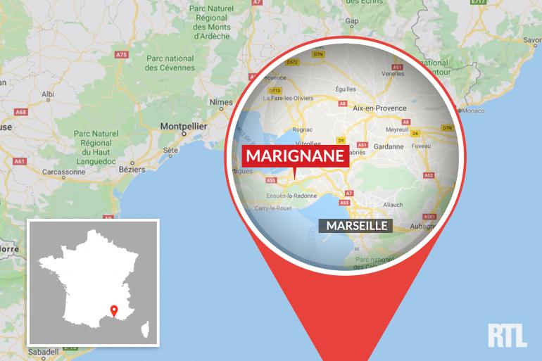 La ville de Marignane dans les Bouches-du-Rhône