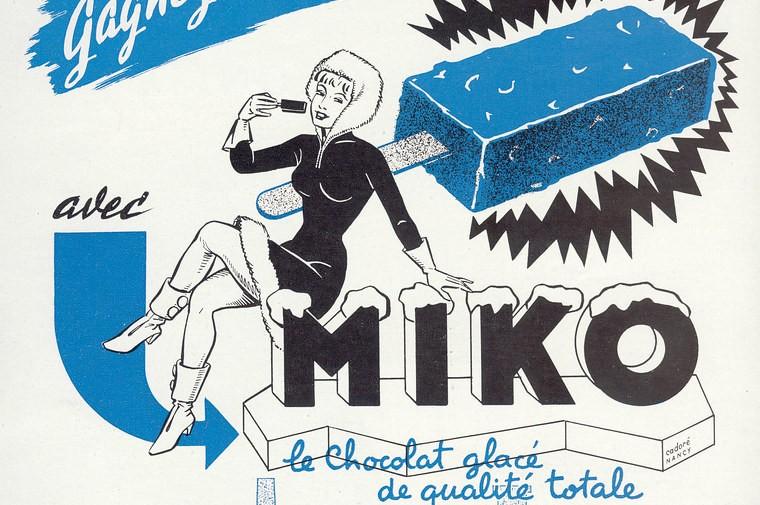 Une publicité Miko