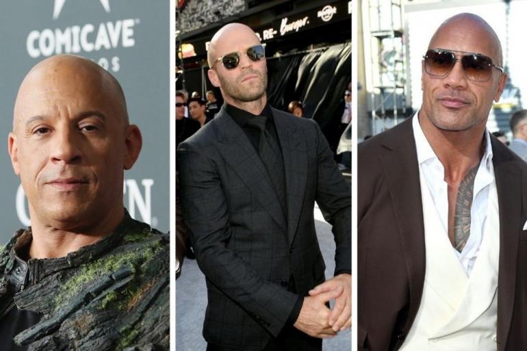 Vin Diesel, Jason Statham et Dwayne Johnson