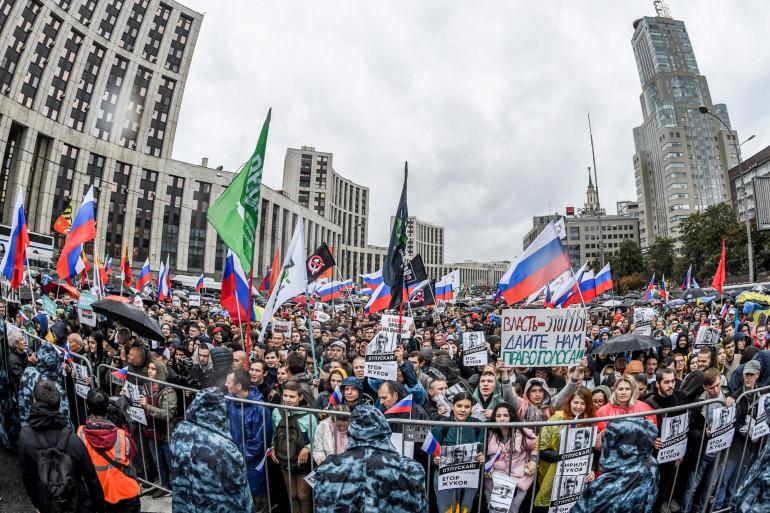 Manifestation à Moscou, le 10 août 2019