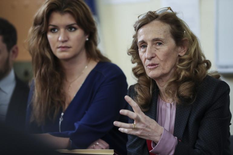 Nicole Belloubet et Marlène Schiappa, en mars 2019