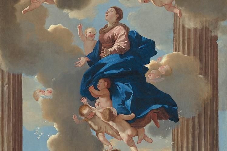 L'Assomption de la Vierge, par Nicolas Poussin (XVIIe s.) (détail)