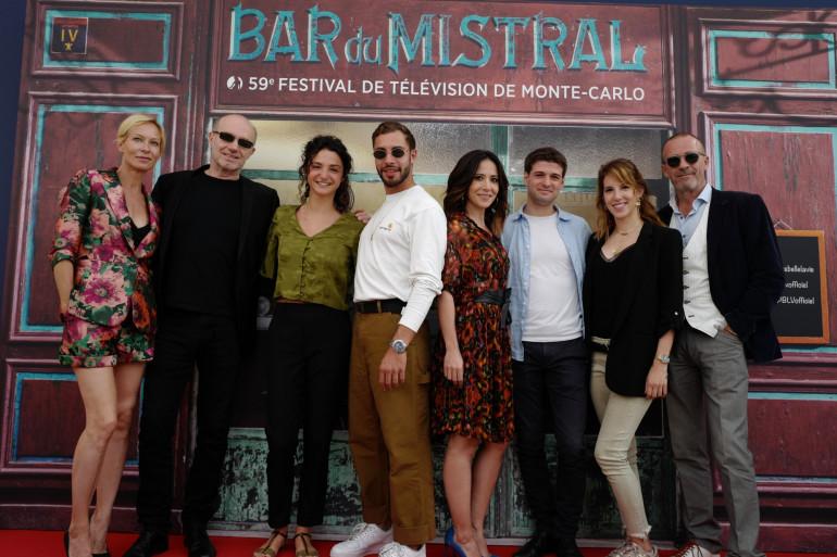 """Une partie du casting de """"Plus belle la vie"""" à Monaco le 16 juin 2019"""