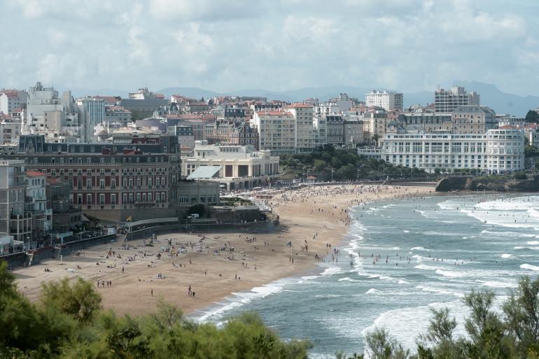 Une vue de la ville de Biarritz, au Pays basque
