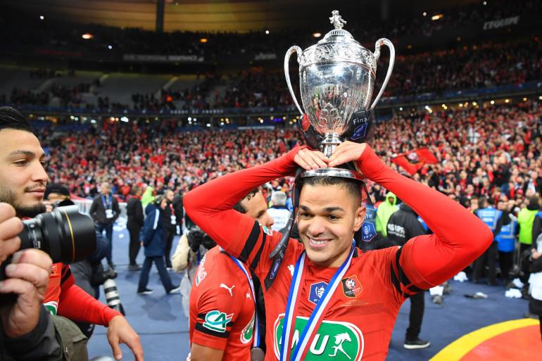 Ben Arfa lors de la victoire du SRFC en Coupe e France, le 27 avril 2019