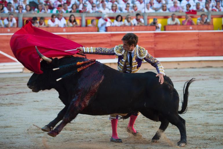 Une corrida (illustration)