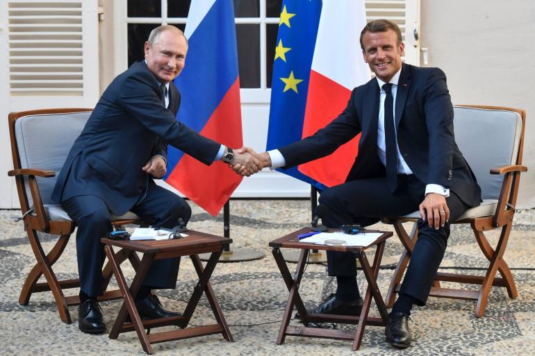 Vladimir Poutine et Emmanuel Macron au Fort de Brégançon lundi 19 août 2019