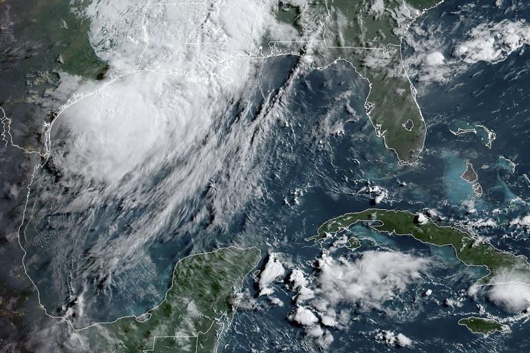 Une image prise par un satellite météo