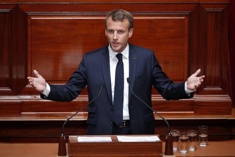 Emmanuel Macron devant le Congrès, rassemblé en juillet 2019
