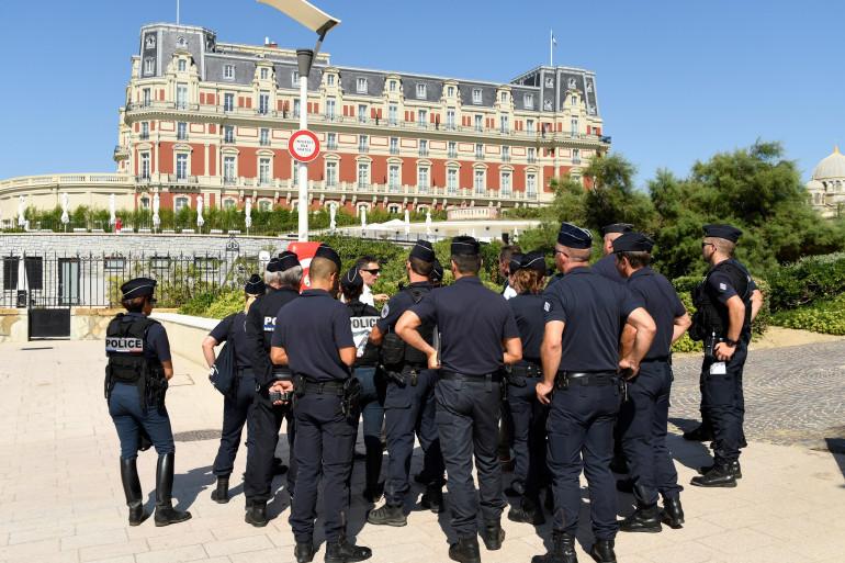 Un groupe de CRS, à Biarritz (illustration)
