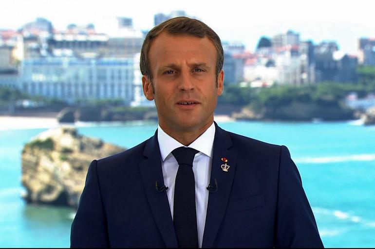 Emmanuel Macron, lors de son allocution aux Français, le 24 août 2019